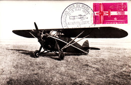 Potez 36. Carte Maximum Avec Cachet De L'exposition  De L'Aviation Légère Du 12-13 Mai 1962. - 1919-1938