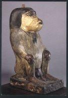 X04 - Egypt - Votive Statue Of A Baboon - Moon-god Thot - Gilded Wood - British Museum - Antichità