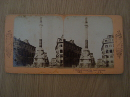 CARTE STEREOSCOPIQUE L'IMMACULEE-CONCEPTION PLACE D'ESPAGNE ITALIE ROME - Stereoscope Cards