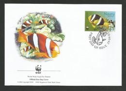 Nauru 2003  Mi.Nr. 556 , Clark`s Anemone Fish + Merten`s Sea Anemone - WWF Official First Day Cover 29.04.03 - Nauru