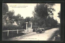 CPA Jouy, La Route De Maintenon, Vue Prise Au Moulin De La Roche - France