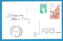 (A951) - Signature / Dédicace / Autographe Original - André TABET - Parolier, Scénariste, Dialoguiste - Autographes
