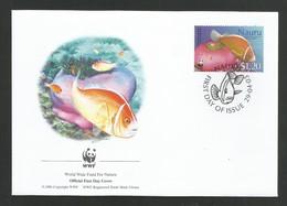 Nauru 2003  Mi.Nr. 555 , Pink Anemone Fish + Magnificent Sea Anemone - WWF Official First Day Cover 29.04.03 - Nauru