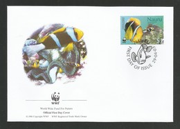 Nauru 2003  Mi.Nr. 554 , Orange-fin Anemone Fish + Leathery Sea Anemone - WWF Official First Day Cover 29.04.03 - Nauru