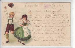 ENFANTS EN COSTUMES - ILLUSTRATION - DOS UNIQUE - 24.12.01 - Suisse