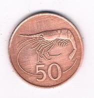 50 AURAR  1986 IJSLAND /0135/ - Islande