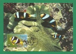 Nauru 2003  Mi.Nr. 556 , Clark`s Anemone Fish + Merten`s Sea Anemone - WWF Official Maximum Card  29.04.03 - Nauru