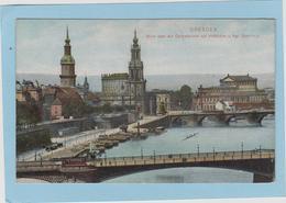 DRESDEN  -  BLICK  UBER  DIE  CAROLABRUCKE  AUF  HOFKIRCHE  U. KGL  OPERNHAUS  - - Dresden