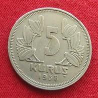 Turkey 5 Kurus 1938 KM# 862  Turquia Turquie - Turquie