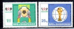 XP4010 - ALBANIA 1986 , Yvert Serie N. 2105/2106  ***   Messico Football - Albania