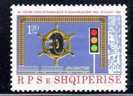 XP4011 - ALBANIA 1986 , Yvert Serie N. 2107  ***   Trasporti - Albania