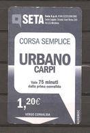 ITALIA - Biglietto Autobus Carpi (MO) SETA Urbano - Autobus