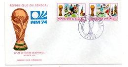 Sénégal -Premier Jour - Football Munich 1974-voir état - Senegal (1960-...)