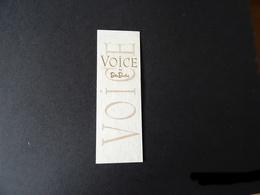 "Carte Parfumée ""VOICE "" De BETTY BARCLAY - Cartes Parfumées"