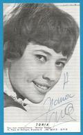 (A964a) - Signature / Dédicace / Autographe Original - TONIA - Autographes