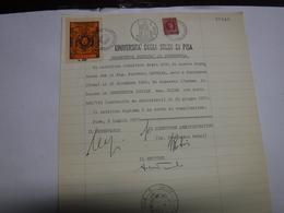 PISA   -- MARCA DA BOLLO  UNIVERSITA'  -- FISCALI --   --- DIRITTO DI SEGRETERIA L. 200 - 6. 1946-.. Repubblica