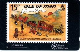 Timbre Stamp BD Train Trein Jouet Jeu -Télécarte ISLE OF MAN  Phonecard  Karte (G 47) - Timbres & Monnaies
