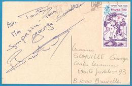 (A967) - Signature / Dédicace / Autographe Original - Pierre TRENTIN - Cyclisme - Médaille JO 1964 - Autographes
