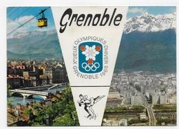 GRENOBLE EN 1967 - N° 38/151 - JEUX OLYMPIQUES D' HIVER 1968 - TELEPHERIQUE DE LA BASTILLE - CPSM GF NON VOYAGEE - Grenoble