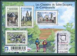 B-F TIMBRE - FRANCE - 2013 - F4725 - Les Chemins De St-jacques De Compostelle - Blocs & Feuillets