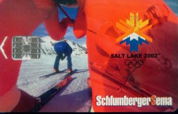 Mexico Schlumberger Chip Cards, Salt Lake Winter Olympics (1pcs) - Mexico