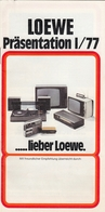 1977 LOEWE GERMANY TV TELEVISION RADIO GRAMOPHONE CATALOGUE BROCHURE PROSPECT - Television