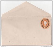INDE ENVELOPPE ENTIER POSTAL 2 A/6 P NEUF ** VICTORIA - Inde (...-1947)