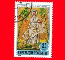TOGO - Nuovo Oblit. - 1984 - Affresco Del Battistero Degli Ariani, Ravenna - Gli Apostoli Martiri - San Tommaso - 2 - Togo (1960-...)