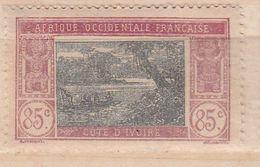 COTE D'IVOIRE N° 72 85C LILAS ET NOIR TYPE LAGUNE EBRIE DÉCALAGE DU CENTRE NEUF SANS CHARNIÈRE - Costa D'Avorio (1892-1944)