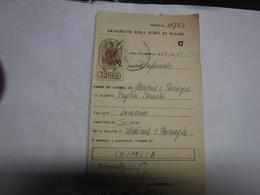 MILANO  -- MARCA DA BOLLO  UNIVERSITA'  --FISCALI  ---L. ----- - 6. 1946-.. Repubblica