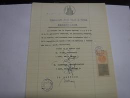 SIENA   -- MARCA DA BOLLO  UNIVERSITA'  --FISCALI  ---L. 50,00 - Fiscales