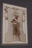 Ancienne Photo Carton,enfant Avec Chat,photo à Identifier, 12 Cm. Sur 9 Cm. - Photos