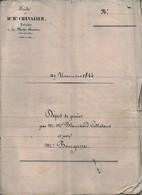 Acte Notarial Notaire Chevalier Lamotte Beuvron Vente Blanchard Colladant Bourgerette 1844 24 Pages - Manuscripten