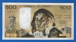 500 Fr  Du  6/11/1969  N14 - 500 F 1968-1993 ''Pascal''