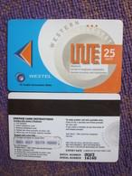 Westel Prepaid Magnetic Phonecard,25 Units,used - Ghana