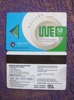 Westel Prepaid Magnetic Phonecard,50 Units,used - Ghana