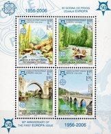 50Jahre 1956-2006 CEPT HERZEGOWINA Block 13 ** 10€ Perfor.Park Rafting Drina-Brücke S/s EUROPA Hb Bloc Sheet Bridge - Europa-CEPT