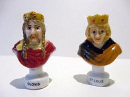 Fèves Brillantes -  Bustes De Clovis Et Saint Louis -  Rois De France - - Geschiedenis