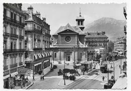GRENOBLE - N° 4 - RUE FELIX POULOT ET LE MOUCHEROTTE AVEC TRAMWAY ET COMMERCES - CPSM GF NON VOYAGEE - Grenoble