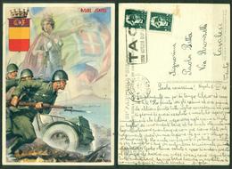 """CARTOLINA - CV2148 MILITARI REGGIMENTALI 1941 31a Fanteria Siena """"Osare Sempre"""", Ill. D'Ercoli, FG, Da Napoli 5.6.41 - Reggimenti"""