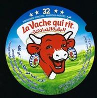Etiquette Fromage La Vache Qui Rit  écriture étrangère 32 Portions  480g - Formaggio