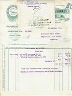 Tournai. Ciments Portland De L'Escaut. 2 Documents. **** - 1900 – 1949