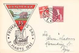 DENMARK - POSTCARD FRIMAERKETS DAG 2. MARTS 1941 - 1913-47 (Christian X)
