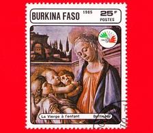 BURKINA FASO - Nuovo Oblit.- 1985 - Mostra Filat. ITALIA '85 - Madonna Con Bambino E Angeli, Dipinto Di Botticelli - 25 - Burkina Faso (1984-...)