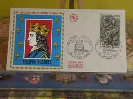 Philippe Auguste, Grand Nom De L'histoire De France (59) Bouvines - 10.11.1967 FDC 1er Jour - 1960-1969