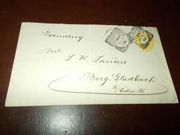 B707   Busta Senza Contenuto Da Leicester In Germania 1902 Cm15x9 Presenza Piega Al Centro - Unclassified