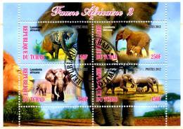 TCHAD CHAD BF Cinderella Mini Sheet Cancelled Elephants  Elefanti Elefanten Elefantes Mammals Animals - Elephants