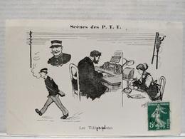 Scènes Des P.T.T.Illustrateur Morer. Les Téléphonistes - Postal Services