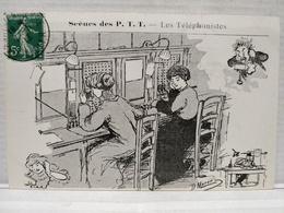 Scènes Des P.T.T.Illustrateur Morer. Les Téléphonistes - Poste & Facteurs