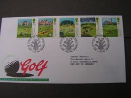 GB FDC 1994 Golf 1522-1526 - 2001-2010 Dezimalausgaben